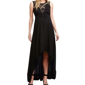 Illusion high-low Maxi Dress
